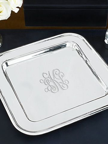 Monogrammed Square Tray ~ this can go in any room or on any table!