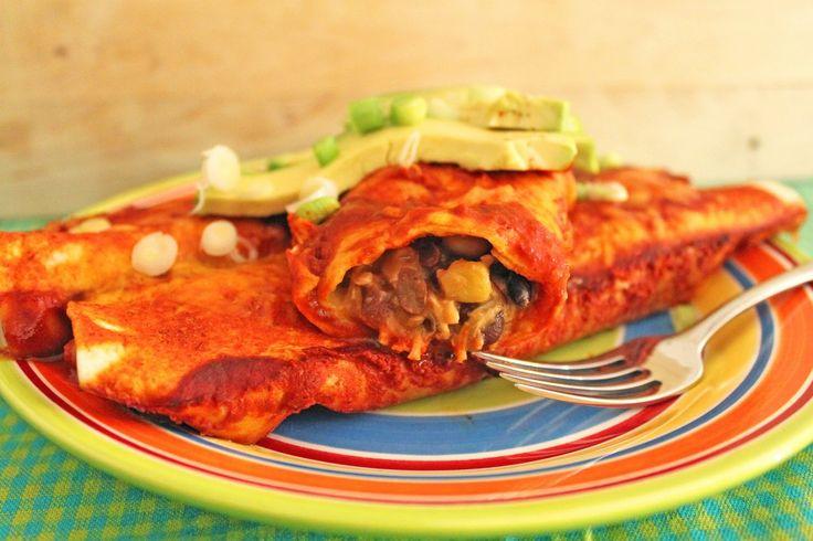 Semi Slow Cooker Black Bean & Chicken Enchiladas | Little Kitchen, Big ...