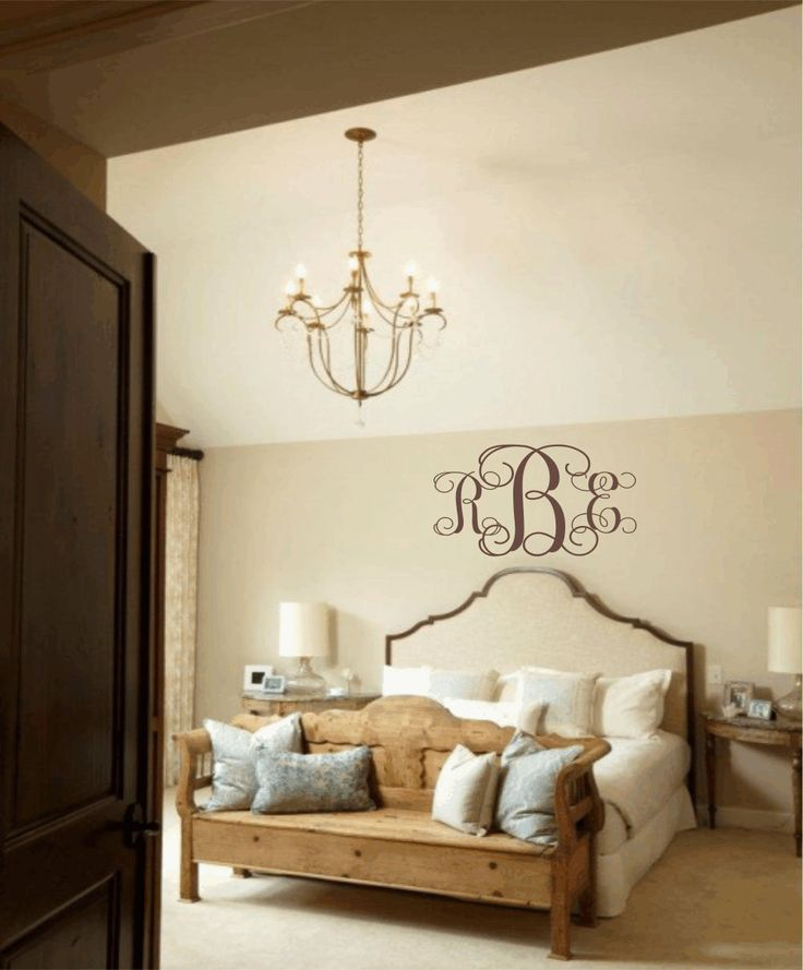 master bedroom wall decal personalized initial monogram