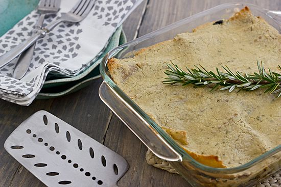 lasagna with rosemary cashew sauce think i d make another white sauce ...
