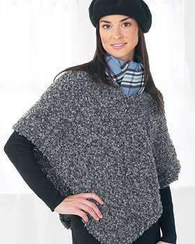 Bernat: Pattern Detail - Soft Boucle - Poncho (knit ...