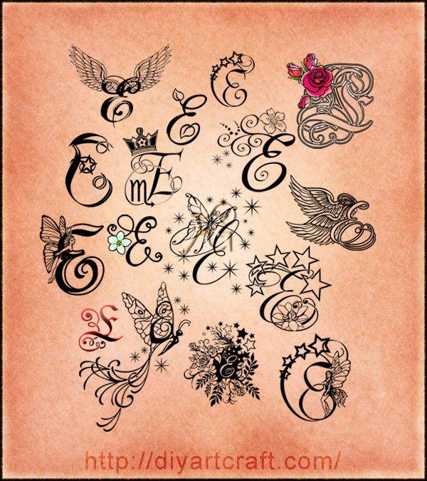 Татуировка буквы е на руке