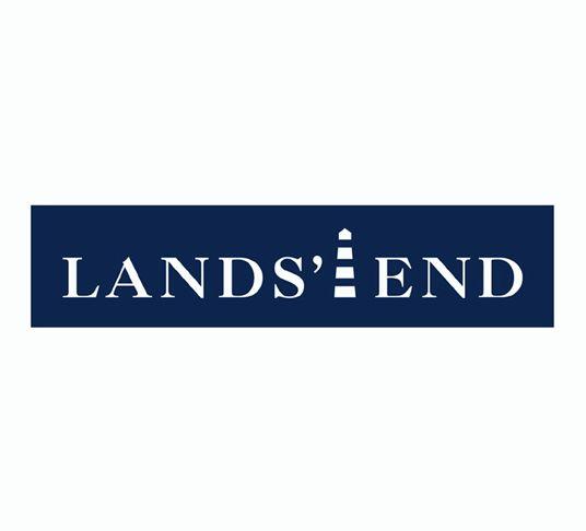 Pentagram 39 s identity for lands 39 end logo design pinterest for Lands end logo shirts