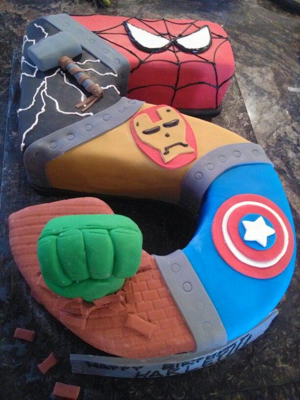 #5 avengers cake Cake Ideas Pinterest