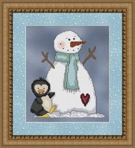 Free Frozen Snowman Cross Stitch Pattern