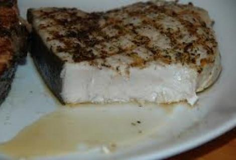 CAAL Grilled Swordfish Steak with Herbs www.fastpaleo.com
