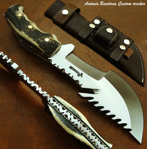 Antonio Banderas 1-OF-A-KIND CUSTOM BUSHCRAFT TRACKER ... Antonio Banderas Knives
