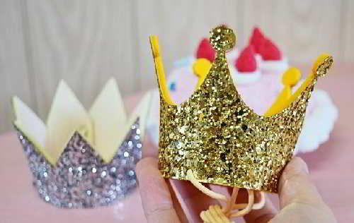 Золотая корона из картона 62