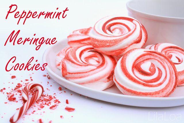 Peppermint Meringue Cookies inkatrinaskitchen.com from LilaLoa # ...