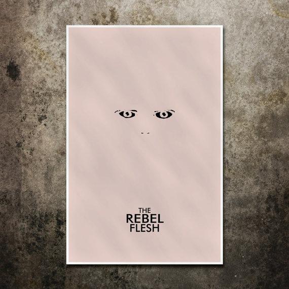 Minimalist Doctor Who episode poster - The Rebel Flesh