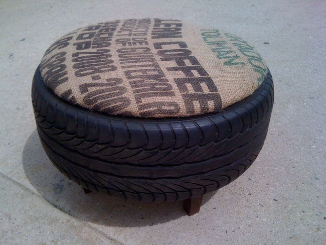 coffee bag and tire table