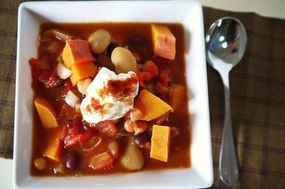 Five-Alarm Five-Bean Chili with Yams | Tasty Kitchen: A Happy Recipe ...