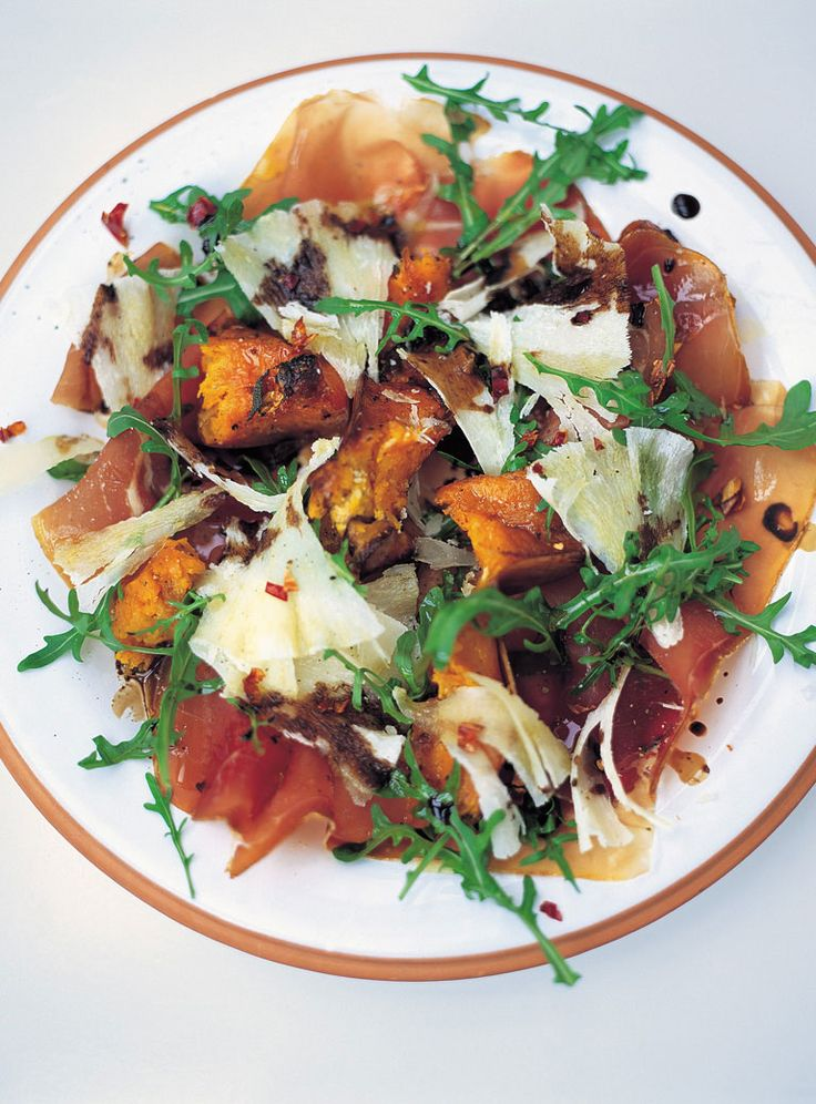 warm salad of roasted squash, prosciutto & pecorino | Jamie Oliver ...