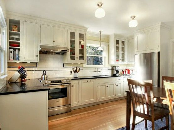 Craftsman style kitchen for the home pinterest for Bungalow style kitchen