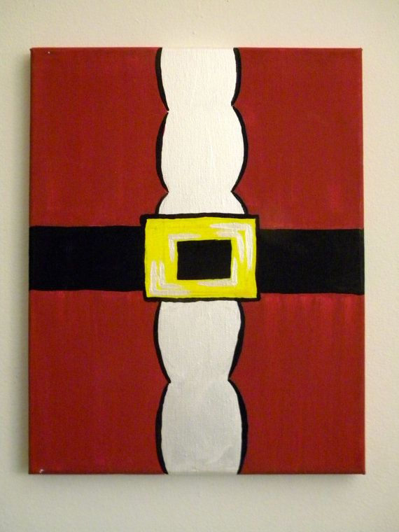 Santa suit painting on canvas by creationsbysweettea on etsy 35 00