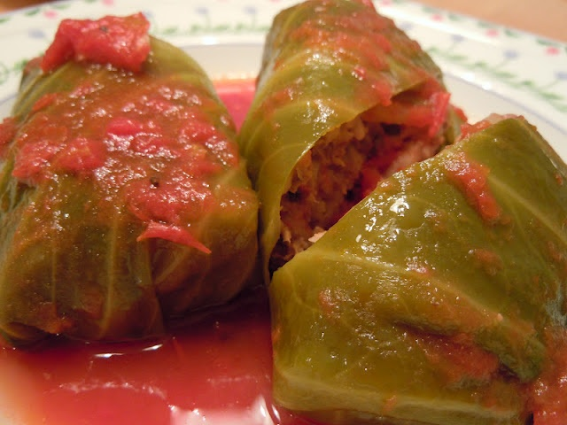 Stuffed Cabbage Rolls we had these tonight (hubby cooked) yummy !!!