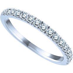 Ben Moss Jewellers 0.32 Carat TW, 14k White Gold Diamond Wedding Band ...
