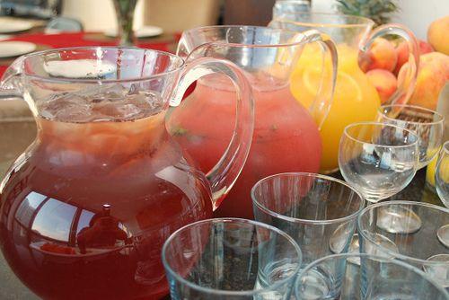 Pomegranate Sparkler & Orange Peach Cooler by ItsJoelen,