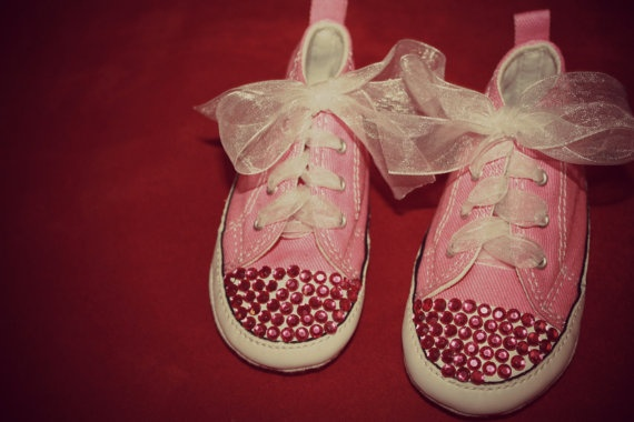 Pink Converse Shoes by 1stBirthdayBoutique on Etsy, $55.00