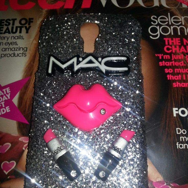 Case Design personalised bling phone cases Custom made Mac Makeup bling phone case Compatible Brand: Samsung Type ...
