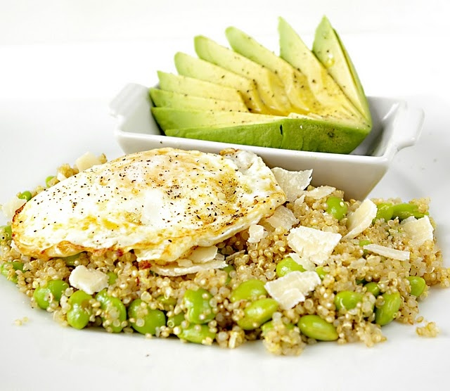 Quinoa, Avocado, Egg and Edamame Salad. | Food | Pinterest
