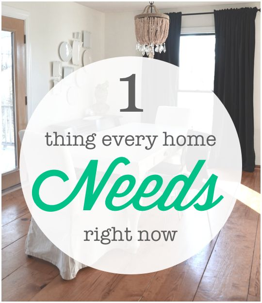 The 1 Thing every home needs right now