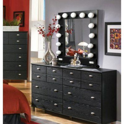 Vanity Mirror With Lights And Dresser : Broadway Lighted Table Top Vanity Mirror Vanity Pinterest
