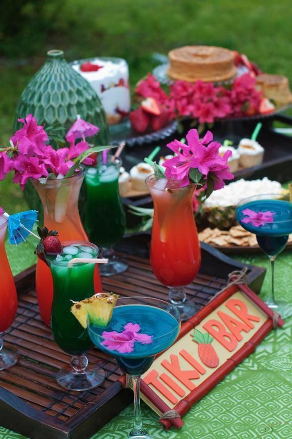 Tiki Themed Backyard Party : Vintage luau  Luau Party  Pinterest