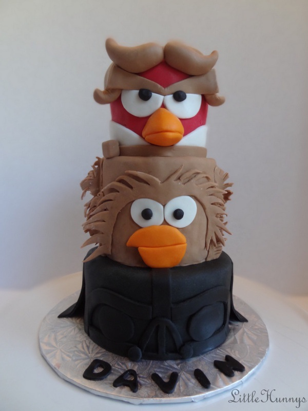 Angry Birds Star Wars Cake!  Created by Little Hunnys Cakery  www.Facebook.com/LittleHunnysCakery