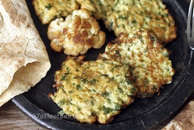 Cauliflower fritters. | Yum! | Pinterest