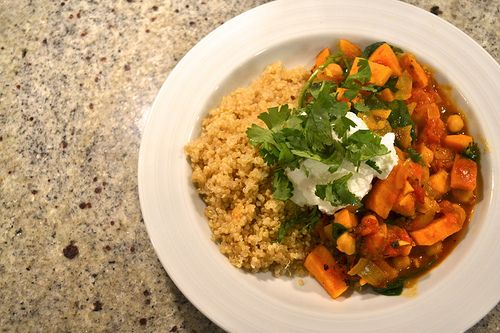 morrocan sweet potato, chickpea, and quinoa stew - things i made today