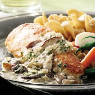 Chicken Breasts with Mushroom Cream Sauce Recipe