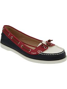 boat shoes, and no boat