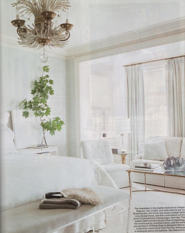 All white bedroom  Master  Pinterest