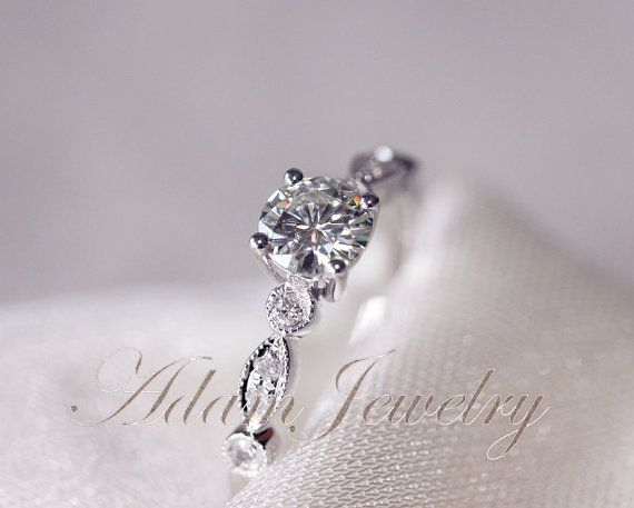 gorgeous vs moissanite ring vs accent diamonds 14k white