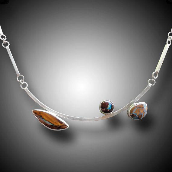 KOROIT OPAL Necklace Sterling Silver Necklace