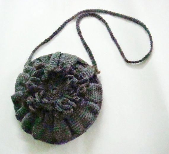 Crochet Cross Body Bag Pattern : CROCHET PATTERN Cross Body Bag Purse Crochet Flower Pdf DIY Tutorial ...