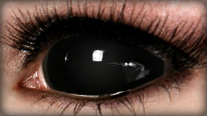 Как сделать черные глаз