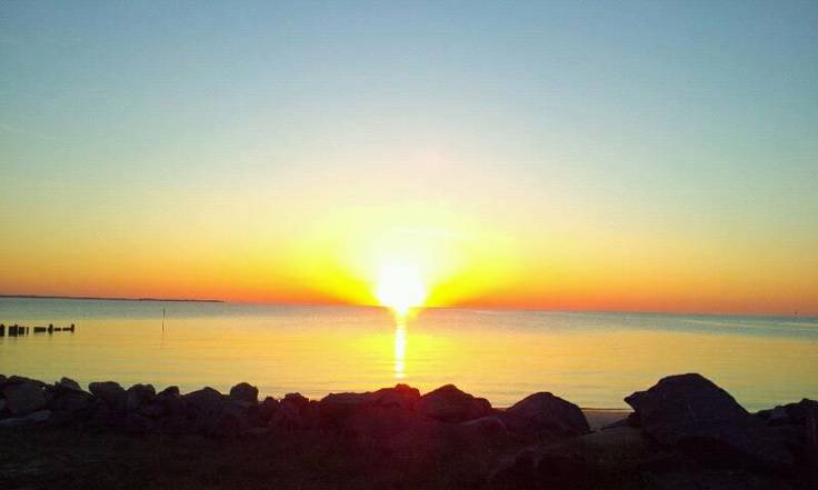 Sunrise service on the potomac river