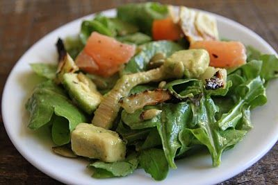 Arugula salad with grilled fennel, grapefruit, and avocado ...
