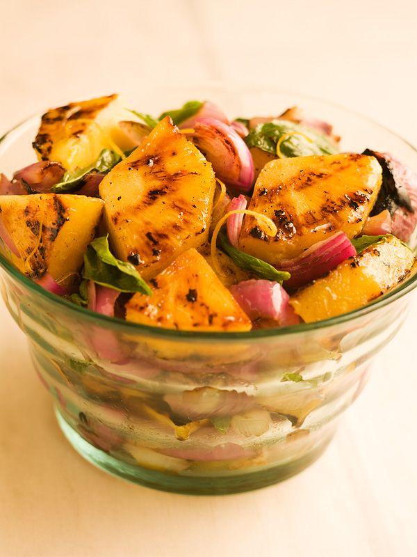 Grilled Pineapple Red Onion Salad! | Vegetables / Fruit | Pinterest