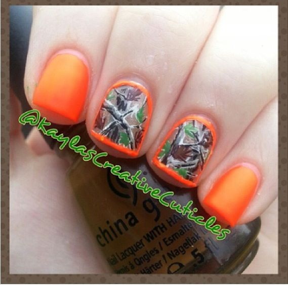 Realtree camo nails by @kaylascreativecuticles on Instagram. Best camo nails I have ever seen! ~SLB