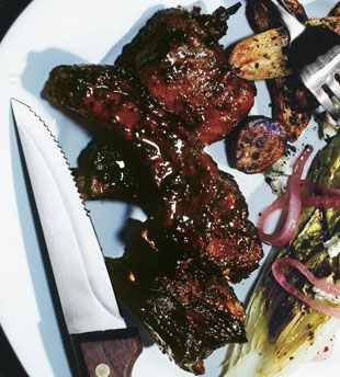 Mixed Grill with Sweet and Spicy Bourbon Sauce