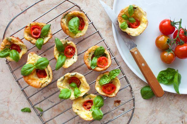 Gluten-free Caprese mini popovers