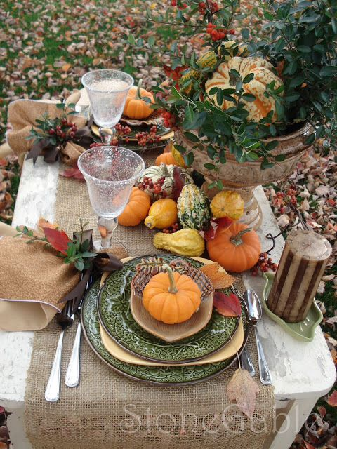 Outdoor Tablescape Lovely I Love Fall Pinterest