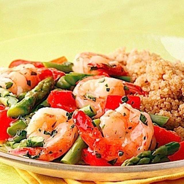 Shrimp veggies brown rice   COOKING   Pinterest