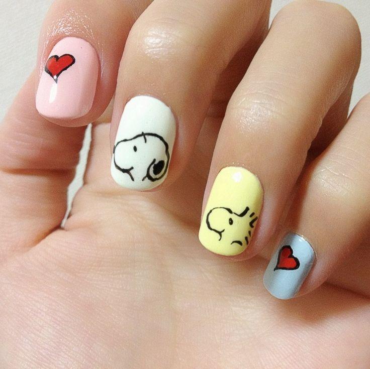 Snoopy nail art decals : Snoopy nail art nails cartoons characters