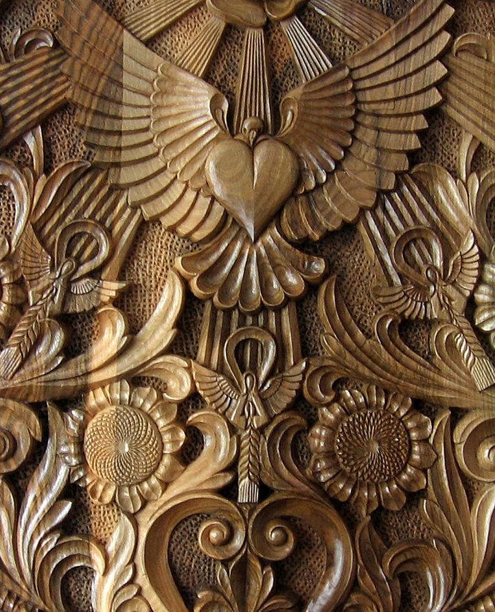 Ooak rectangular hand carved wall panel wood carving to
