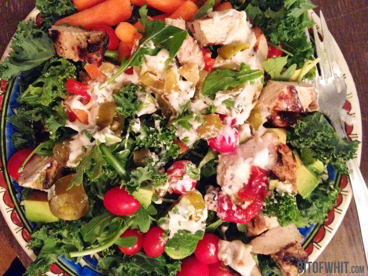 tahini sauce kale chicken salad   Food: Paleo   Pinterest