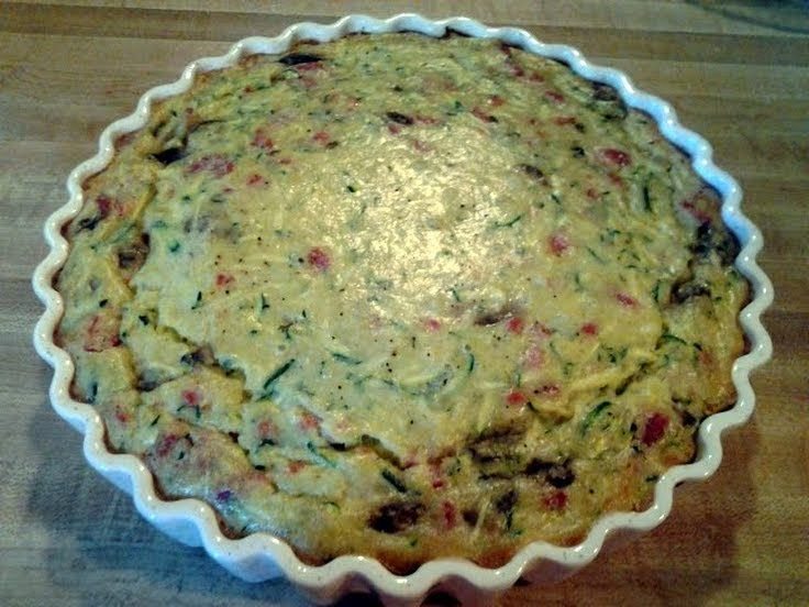 No crust zucchini pie! @allthecooks #recipe #vegetarian #pie
